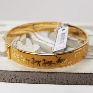 BEAUTIFUL NWT COACH BANGLE GOLD BRACELET